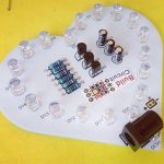 Heart Shaped Multicolor LEDs Flasher DIY Kit